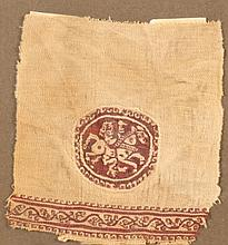 A COPTIC TEXTILE FRAGMENT of a tunic, Egypt 6th/7