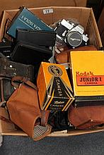 CAMERAS TO INCLUDE A KODAK 620, Olympus 35RD, a Co