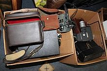 A COLLECTION OF 8MM MOVIE CAMERAS to include a Yas