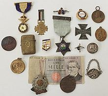 A GROUP OF VARIOUS MEDALS to include one with enam