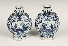 A PAIR OF 19TH CENTURY CHINESE PORCELAIN BLUE AND