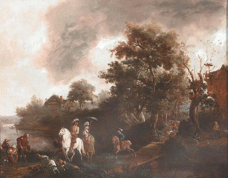 CIRCLE OF PHILIPS WOUWERMAN (1619-1668) A hawking