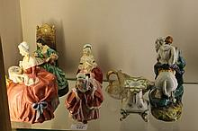 A COLLECTION OF ROYAL DOULTON AND OTHER FIGURES i