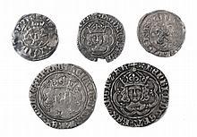 FIVE HAMMERED COINS, Edward I Berwick penny, Henr