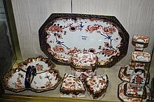 A COLLECTION OF ROYAL CROWN DERBY DRESSING TABLE