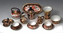 A COLLECTION OF ROYAL CROWN DERBY MINIATURE PIECE