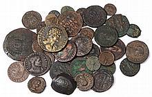 36 MIXED ANCIENT COINS, F - VF
