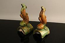 Pr. Chinese Ming Dynasty Koi Fish Roof Tiles
