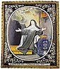 SAINT THERESA ENAMEL ON COPPER PLAQUE