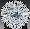 ANTIQUE CHINESE BLUE AND WHITE PORCELAIN DISH