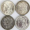(4) MORGAN SILVER DOLLARS UNCIRCULATED KEY DATES