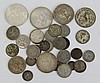 7 TROY OUNCES OF MOSTLY SILVER FOREIGN COINS