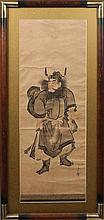 JAPANESE WATERCOLOR SAMURAI WARRIOR