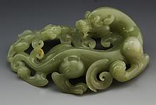 MODERN JADE DRAGON CARVING