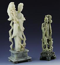 (2) CHINESE SOFT STONE CARVINGS