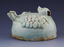 SMALL CELADON GLAZE EARTHENWARE WATER DROPPER