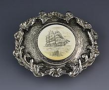 SCRIMSHAW BELT BUCKLE