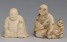 CARVED JAPANESE NETSUKE WITH BUDDHA OKIMONO