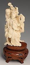LATE 19TH C CHINESE IVORY BEAUTY W/ BOY