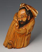 LATE 19TH C CHINESE CARVED IVORY LI BAI