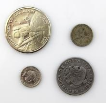 (4) MIXED FOREIGN COINS