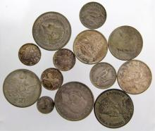 (13) WORLD SILVER COINS