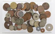 80+ ASSORTED WORLD COINS