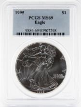 1995 PCGS MS69 1 OZT SILVER EAGLE