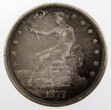 1877 US SILVER SEATED LIBERTY TRADE DOLLAR