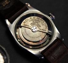 MENS ROLEX STAINLESS STEEL BUBBLE BACK CIRCA 1944