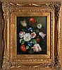 HINES FLORAL STILL LIFE OIL ON BOARD FRAMED