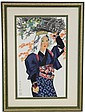 FRAMED JAPANESE WATERCOLOR SIGNED