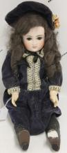BISQUE HEAD GERMAN FASHION DOLL, JOINTED BODY,