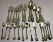 27 PIECES STERLING SILVER FLATWARE