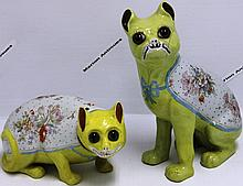 2 19TH C PORCELAIN ANIMALS BY EMPIRE WORKS STOKE