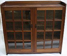 GUSTAV STICKLEY #719 TWO DOOR BOOKCASE, ORIGINAL