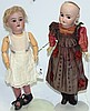 LOT OF TWO SIMON & HALBIG BISQUE HEAD DOLLS,