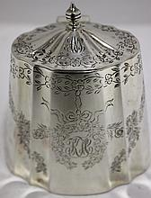 STERLING SILVER TEA CADDY BY HODGSON & KENNARD