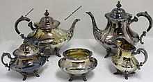 5 PC STERLING SILVER TEA SERVICE BY REED & BARTON,