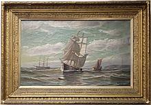 LATE 19TH C FRAMED OIL PAINTING ON CANVAS