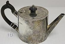ENGLISH STERLING SILVER TEAPOT, LONDON 1881;