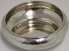 HAND HAMMERED STERLING SILVER BOWL; THE KALO SHOPS