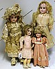 LOT OF FOUR ARMAND MARSEILLE DOLLS,