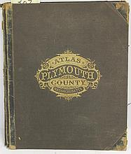 BOUND ATLAS OF PLYMOUTH COUNTY 1879 PUBLISHED