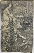 FREDERICK JUDD WAUGH; UNPUBLISHED ILLUSTRATION OF