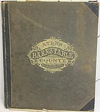 BOUND 1880 ATLAS OF BARNSTABLE COUNTY BY