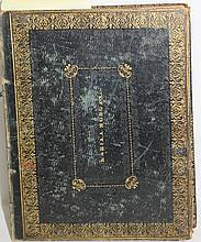1826 LEATHER BOUND JOURNAL BELONGING TO MORIA