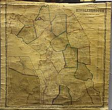 1855 ROLL-UP MAP OF THE TOWN OF MIDDLEBOROUGH, MA