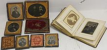 COLLECTION OF 5 19TH C CASED PHOTOGRAPHS AND