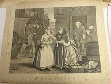 SET OF 6 18TH C HOGARTH ENGRAVINGS TITLED